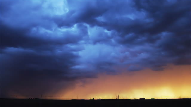storm at sunset - oklahoma stock videos & royalty-free footage
