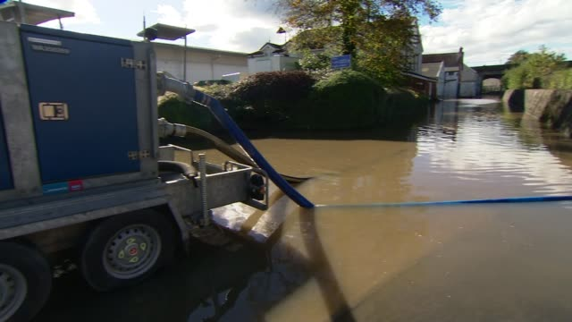 man killed by landslip in Wales WALES Carmarthenshire Pumping machine Man towards through flood water