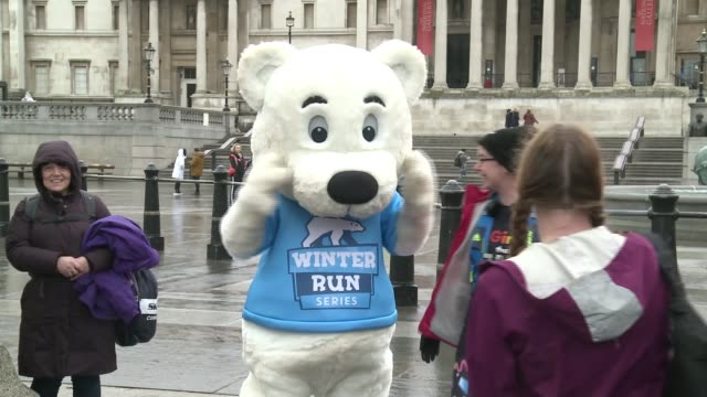 storm ciara causes travel chaos uk london gvs rainy and windy conditions in london gvs human race runners interview with race organiser vox pops with... - big wheel stock videos & royalty-free footage