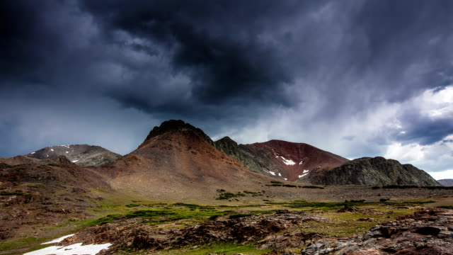 time lapse: storm cloud mountain - californian sierra nevada stock videos and b-roll footage