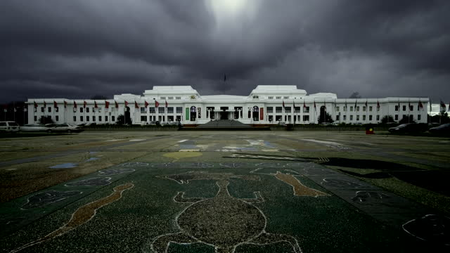 storm clouds above old parliament house, australia - australian politics stock videos & royalty-free footage