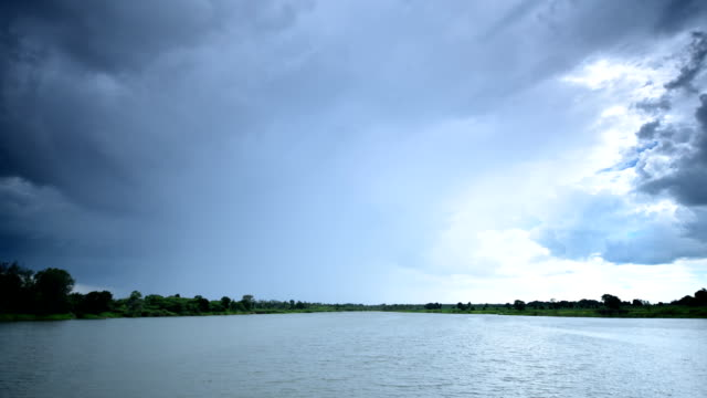 Storm clouds at Lake Timelapse