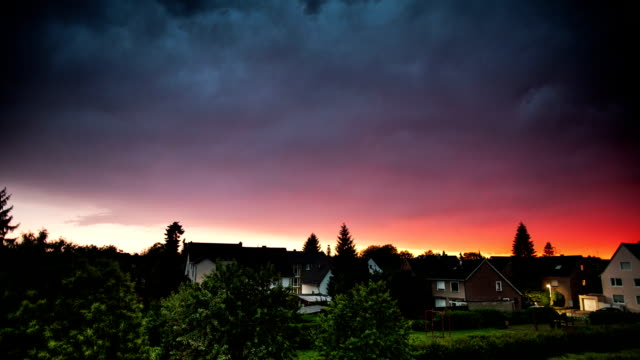 TIME LAPSE: Storm Clouds at Sunset