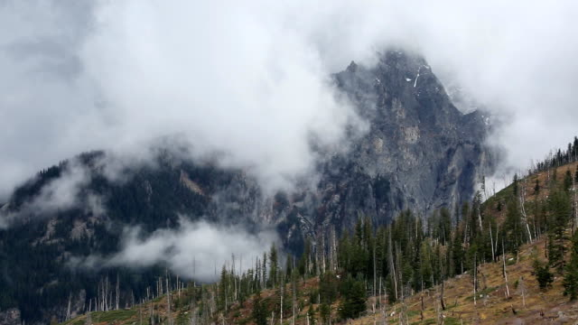 storm clouds covering mountain tops - grand teton stock videos & royalty-free footage
