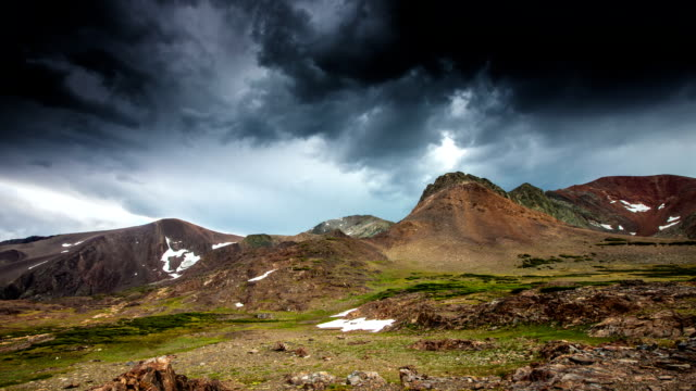 time lapse: storm clouds in mountains - californian sierra nevada stock videos & royalty-free footage