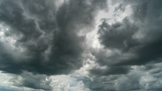 storm clouds moving time lapse. - hurricane stock videos and b-roll footage