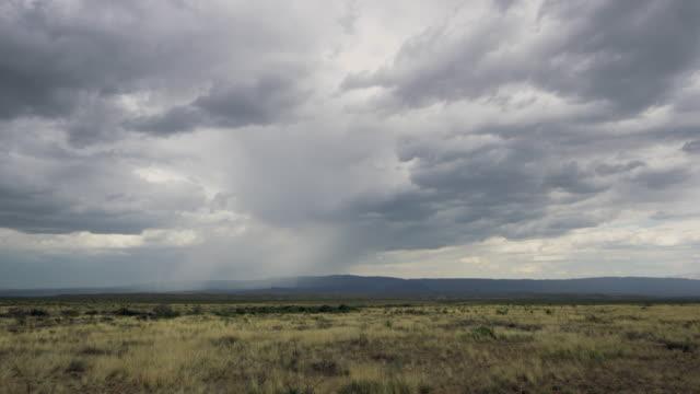storm clouds over desert landscape, big bend - overcast stock videos & royalty-free footage