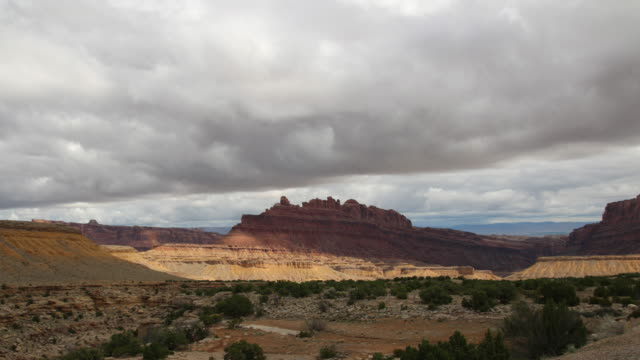 storm clouds over desert san rafael swell time lapse colorado plateau utah - san rafael swell stock videos and b-roll footage
