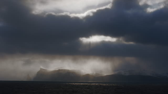 storm clouds over island - storm cloud stock videos & royalty-free footage