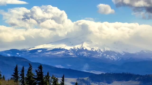 Storm clouds thunderheads Hood River Valley Mt. Hood Oregon Cascades 1