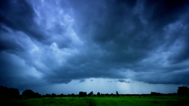 storm clouds timelapse (hdr) - torrential rain stock videos and b-roll footage