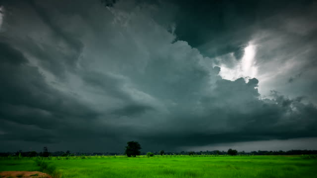 storm clouds timelapse - torrential rain stock videos and b-roll footage