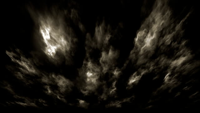 storm clouds (loopable) - horror stock videos & royalty-free footage