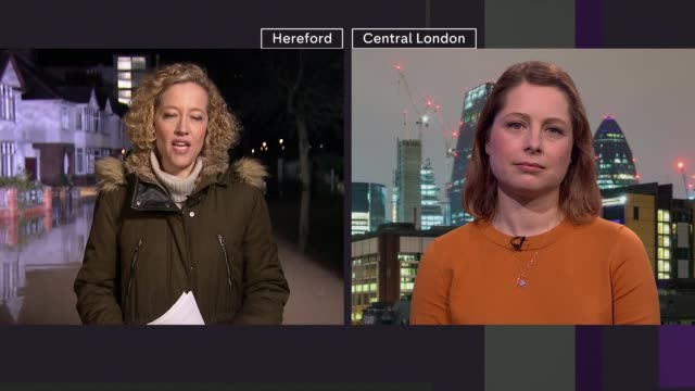 environment secretary links extreme weather events to climate change england herefordshire hereford professor hannah cloke live 2way interview from... - cathy newman stock videos & royalty-free footage