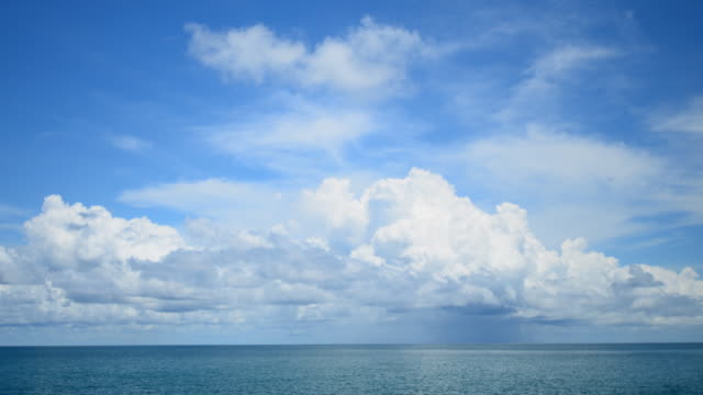 storm front with rain over the sea andaman - horizon over water stock videos & royalty-free footage