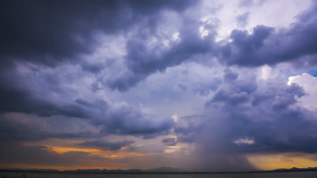 Storm front with rain