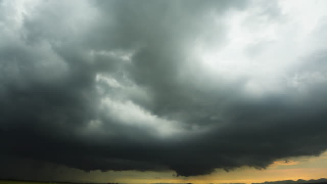 storm front with rain - atmospheric mood stock videos & royalty-free footage