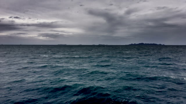 storm in the sea - horizon over water stock videos & royalty-free footage