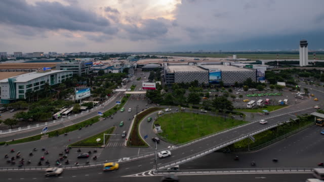 storm is coming to tan son nhat international airport - tan stock videos and b-roll footage