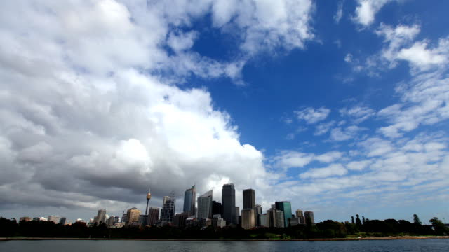 storm moving over sydney city, australia - storm cloud stock videos & royalty-free footage