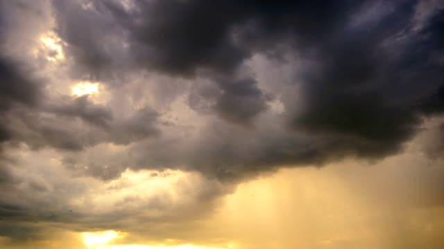 Storm nimbus at sunset