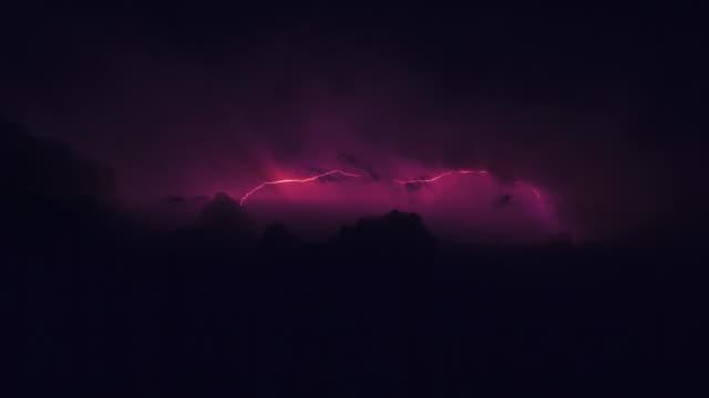 storm on a rocky coast. lightning - dark stock videos & royalty-free footage