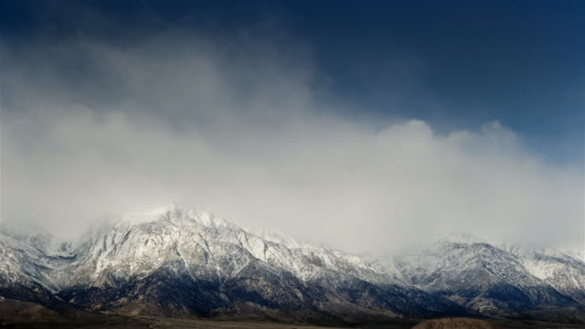 storm over sierra nevada mountains - californian sierra nevada stock videos & royalty-free footage