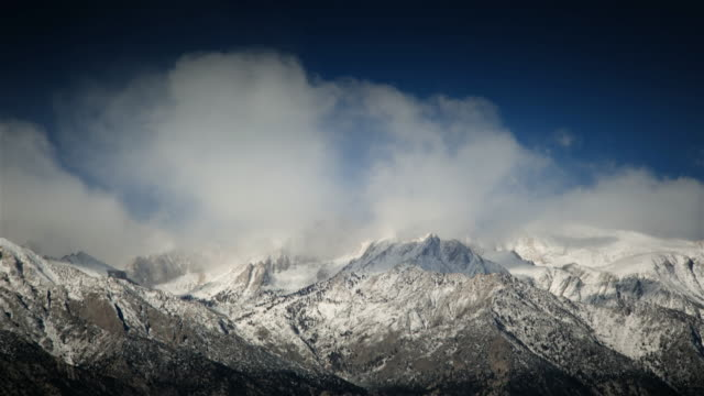 storm over sierra nevada mountains - californian sierra nevada stock videos and b-roll footage