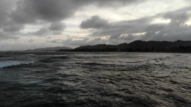 storm over the ocean - atmospheric mood stock videos & royalty-free footage
