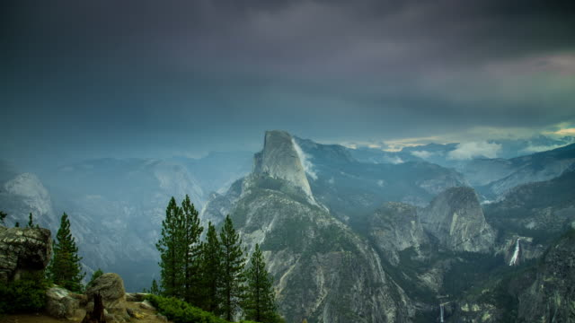 Storm Passing Over Yosemite National Park - Time Lapse