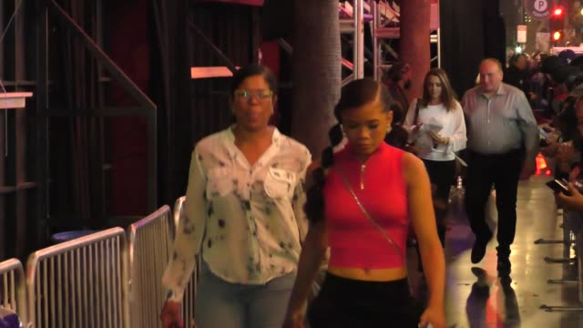 storm reid outside the spider-man far from home premiere at tcl chinese theatre in hollywood in celebrity sightings in los angeles, - tcl chinese theatre stock videos & royalty-free footage