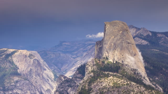 storm rolling in over yosemite - time lapse - half dome stock videos & royalty-free footage