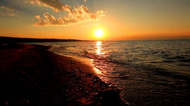 Storm sunset on a tropical beach
