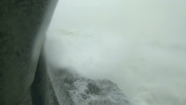 storm surge waves and powerful hurricane winds lash camera as typhoon hagibis hits japan - pacific ocean stock videos & royalty-free footage
