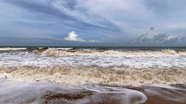 storm surge waves seascape full frame - tide stock videos & royalty-free footage