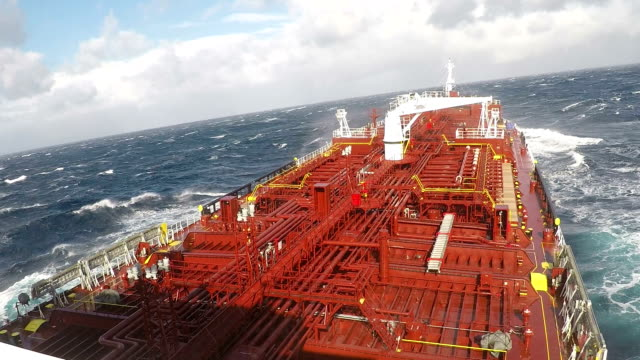 storm - oil tanker stock videos and b-roll footage
