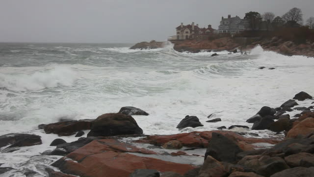 storm waves - gloucester massachusetts stock videos & royalty-free footage