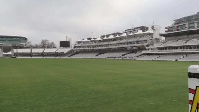 storms in december 2015 linked to climate change caused more than £35 million worth of damage across 57 cricket clubs according to figures released... - lords cricket ground stock videos and b-roll footage