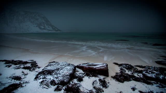 time lapse: stormy  arctic beach - flood stock videos & royalty-free footage