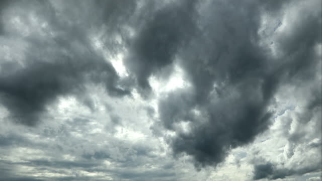 stormy black clouds taking shape in the sky - monsoon stock videos & royalty-free footage