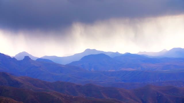stormy clouds in mountains - dramatic sky stock videos & royalty-free footage