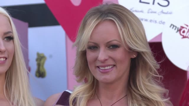 stormy daniels the porn star who claims to have slept with donald trump over a decade ago opens the 2018 venus erotic trade fair in berlin - stormy daniels video bildbanksvideor och videomaterial från bakom kulisserna