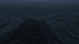 Stormy Ocean Dark Waves Loop Stock Footage Video