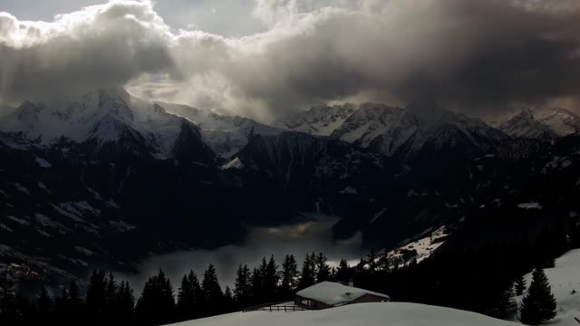 Stormy sky over the alps