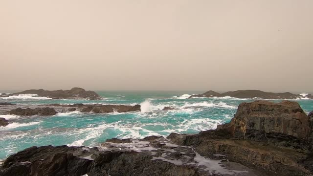 stormy waves at a seacoast in fuerteventura - cliff stock videos & royalty-free footage