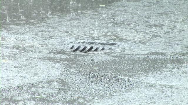 hd: stormy weather - sidewalk gutter stock videos & royalty-free footage