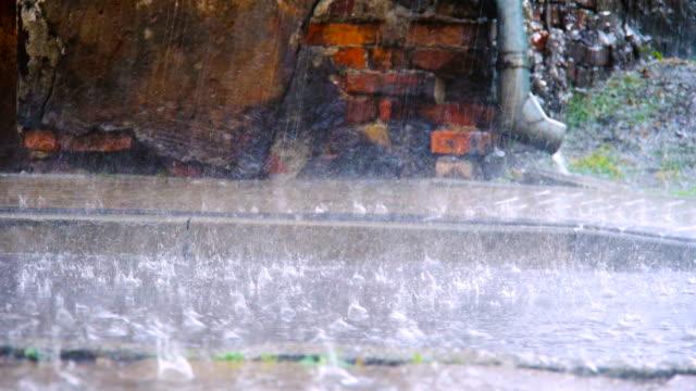 ストーミー悪天候の - 集中豪雨点の映像素材/bロール