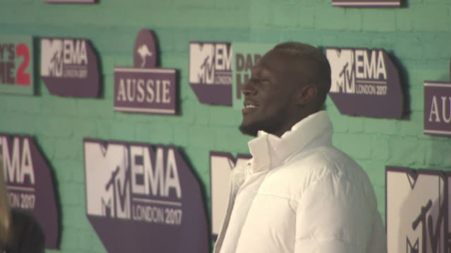 stormzy at mtv ema awards at the sse arena, wembley on november 12, 2017 in london, england. - wembley arena stock videos & royalty-free footage