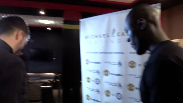 stormzy makes a surprise appearance at michael carrick's press conference the uk rapper spent a day at the manchester united training ground meeting... - stormzy stock videos and b-roll footage