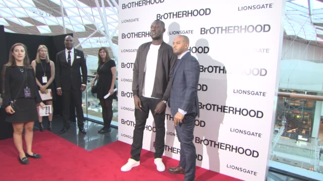 stormzy noel clarke at 'brotherhood' world premiere on august 23 2016 in london england - stormzy stock videos and b-roll footage